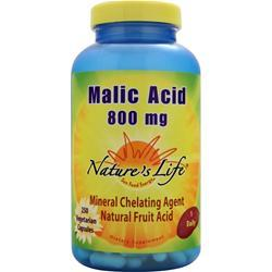 Nature's Life Malic Acid (800mg) 250 vcaps