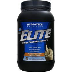 DYMATIZE NUTRITION Elite Whey Protein Isolate Butter Cream Toffee 2.03 lbs