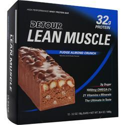FORWARD FOODS Detour Lean Muscle Bar Fudge Almond Crunch 12 bars