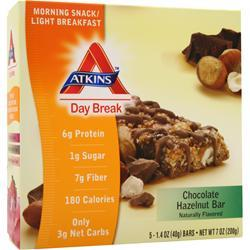 ATKINS Day Break Bar Chocolate Hazelnut 5 bars