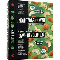 RAW INDULGENCE Raw Revolution - Organic Live Food Bar Spirulina Dream 12 bars