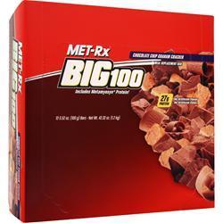 MET-RX Big 100 Food Bar Choc. Chip Graham Cracker 12 bars