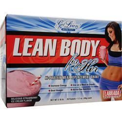 LABRADA Lean Body for Her Strawberry Ice Cream 20 pckts