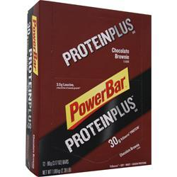 POWERBAR Protein Plus Bar (High Protein) Chocolate Brownie 12 bars