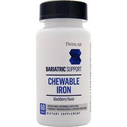 TWINLAB Bariatric Support - Chewable Iron Blackberry 60 tabs