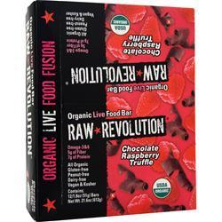 Raw Indulgence Raw Revolution - Organic Live Food Bar ChocolateRaspberryTruffle 12 bars