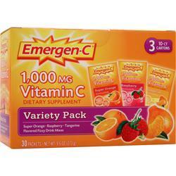 ALACER Emer'gen-C Orange, Tangerine, Rasp. 30 pckts