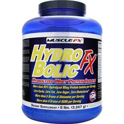 Muscle Fx Hydro Bolic Fx Hydrolyzed Whey Protein Isolate Vanilla 5 lbs