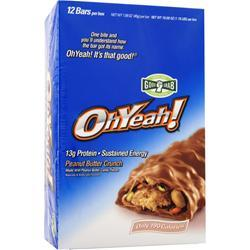 ISS Research Oh Yeah! Good Grab Bar Peanut Butter Crunch 12 bars