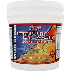 4 EVER FIT Fruit Blast the Isolate Gainer Tropical Mango 8 lbs