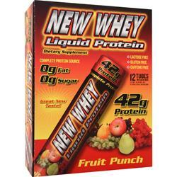 NEW WHEY NUTRITION New-Whey Liquid Protein (42gr Protein) Fruit Punch 12 vials