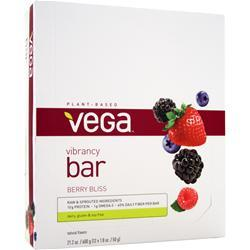 SEQUEL NATURALS Vega - Vibrancy Bar Berry Bliss 12 bars