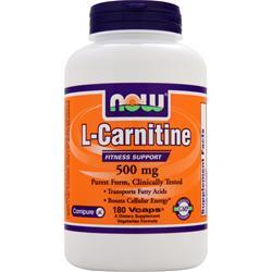 NOW L-Carnitine Fitness Support (500mg) 180 vcaps
