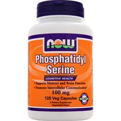 Now Phosphatidyl Serine (100mg) w/ Choline & Inositol 120 vcaps