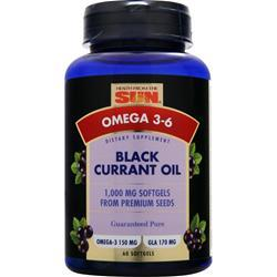 HEALTH FROM THE SUN Black Currant Oil (1000mg) 60 sgels
