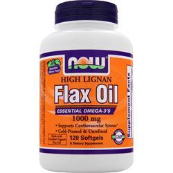 NOW High Lignan Flax Seed Oil (1000mg) 120 sgels