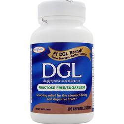 ENZYMATIC THERAPY DGL- Fructose Free/Sugarless 100 tabs