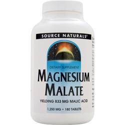 Source Naturals Magnesium Malate 180 tabs