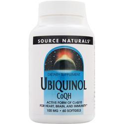 Source Naturals Ubiquinol CoQH (100mg) 60 sgels