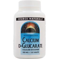 SOURCE NATURALS Calcium D-Glucarate (500mg) 120 tabs