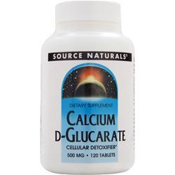 Source Naturals Calcium D-Glucarate (500mg) 120 tabs