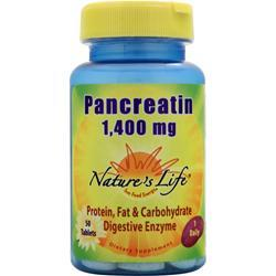 NATURE'S LIFE Pancreatin (1,400mg) 50 tabs