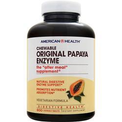 AMERICAN HEALTH Chewable Original Papaya Enzyme 600 tabs