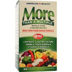American Health More Than A Multiple - Iron Free Vegetarian Formula  EXPIRES 4/17 90 tabs