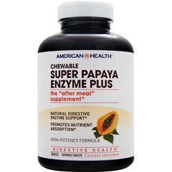 American Health Chewable Super Papaya Enzyme Plus 360 tabs