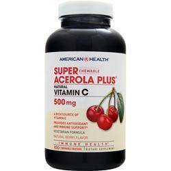 American Health Super Acerola Plus Natural Vitamin Chewable (500mg) 100 wafrs