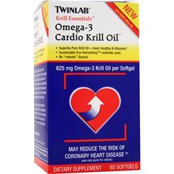 TWINLAB Krill Essentials: Cardio Krill Oil 60 sgels