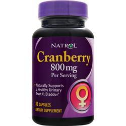 NATROL Cranberry (800mg) 30 caps