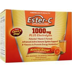 AMERICAN HEALTH Ester-C Effervescent (1000mg) Natural Orange 21 pckts