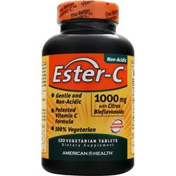 American Health Ester-C with Citrus Bioflavonoids Vegetarian (1000mg) 120 tabs