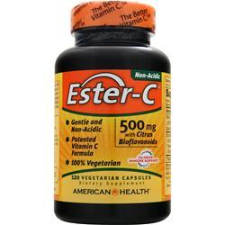 American Health Ester-C with Citrus Bioflavonoids Vegetarian (500mg) 120 vcaps