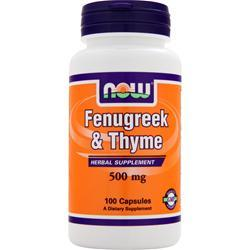 NOW Fenugreek & Thyme 100 caps