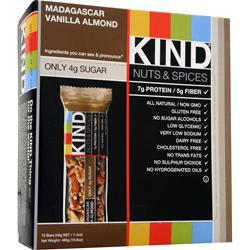 Kind Nuts and Spices Bar Madagascar Vanilla Almond 12 bars