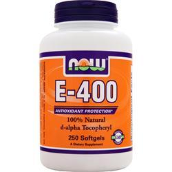 NOW E-400 (d-alpha Tocopheryl) 250 sgels