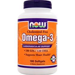 NOW Omega-3 Cholesterol-Free (1000mg) 180 sgels