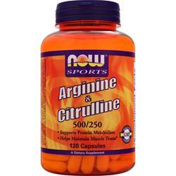 Now Arginine and Citrulline 120 caps