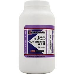 KIRKMAN Hypoallergenic Super Nu-Thera w/o Vitamins A & D 360 caps