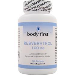 Body First Resveratrol (100mg) 240 sgels