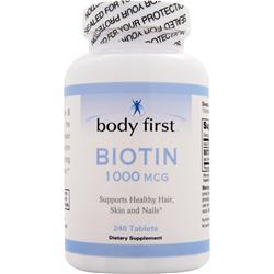 BODY FIRST Biotin (1000mcg) 240 tabs
