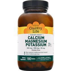 COUNTRY LIFE Target-Mins - Calcium Magnesium Potassium 180 tabs