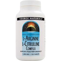 Source Naturals L-Arginine L-Citrulline Complex (1000mg) 120 tabs