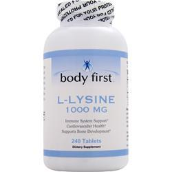 BODY FIRST L-Lysine (1000mg) 240 tabs