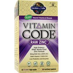 GARDEN OF LIFE Vitamin Code - Raw Zinc 60 vcaps