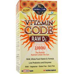 GARDEN OF LIFE Vitamin Code - Raw D3 (2,000IU) 120 caps