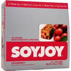 SOY JOY Soy Joy Bar Cranberry 12 bars
