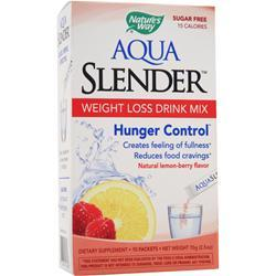 NATURE'S WAY Aqua Slender - Weight Loss Drink Mix Natural Lemon-Berry 10 pckts